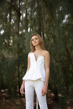 Load image into Gallery viewer, THE LINEN CORSET WHITE