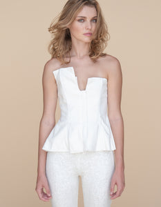THE LINEN CORSET WHITE