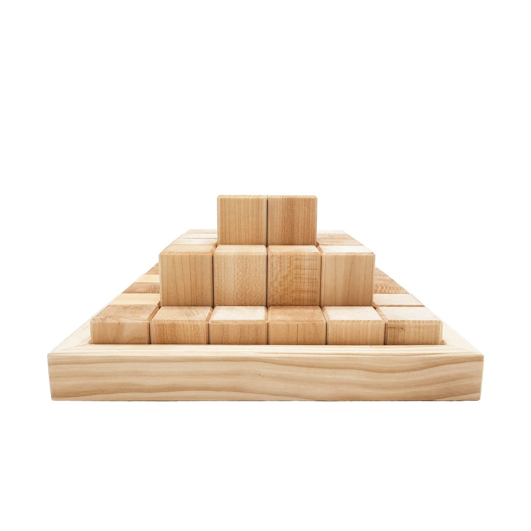 Pyramid Blocks // Natural (36's)