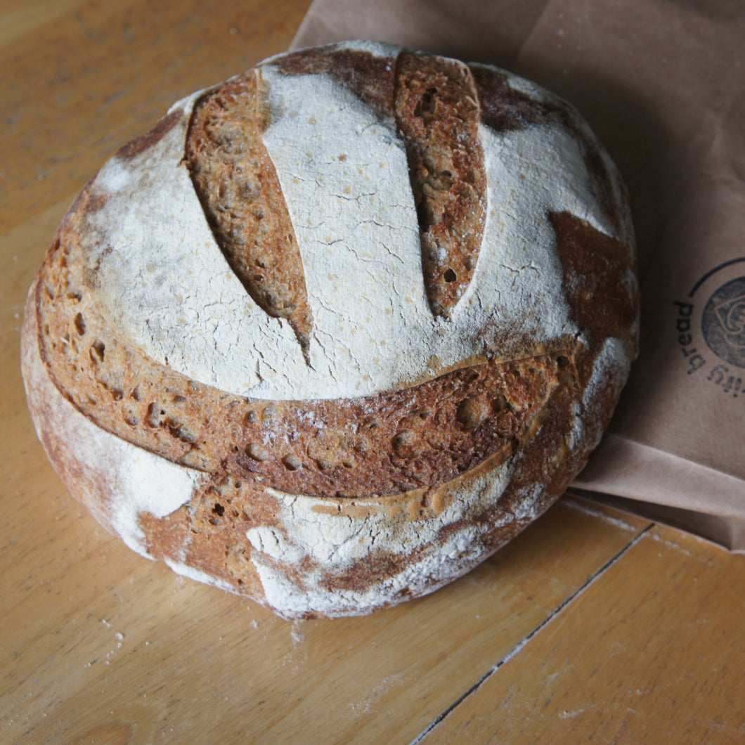 Specialty loaf: Rosemary-Rye Sourdough (August 6)