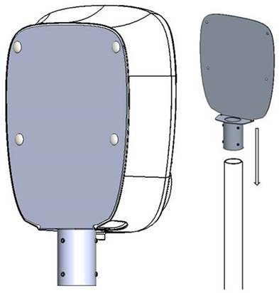 Aura mounting module for poles