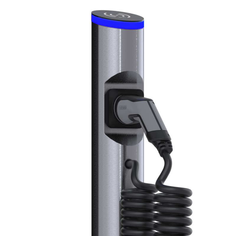 eSat r20 charging station with type 2 spiral cable