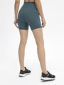 BURNING 6 Inch Inseam No Front Seam Women High Waisted Workout Shorts Buttery Soft