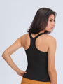 TIMEFLOW Racerback Tank Top Snug Fit Built with Shelf in Bra