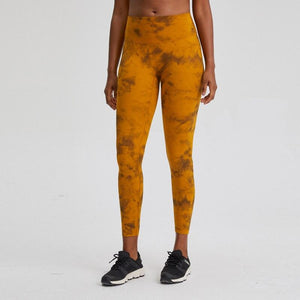 7/8 Rhythm Tie Dye Yoga Leggings No Front Seam