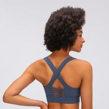 Load image into Gallery viewer, PRACTICE Women Strappy Sports Bra Buttery Soft
