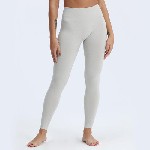 ACTING Basic High Waisted Women Sport Seamless Leggings Slick Soft Marl Color