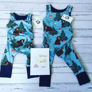 Lil Moo Grow With Me Romper - Little Bear 1-3 Years