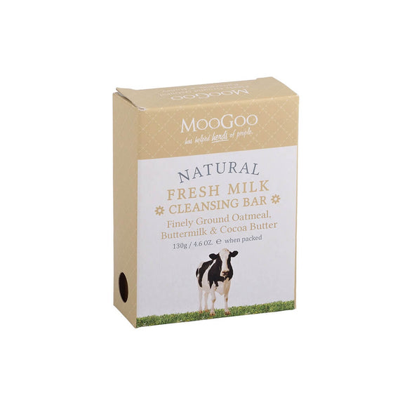 Moogoo Natural Cleansing Bar - Hydrating Oatmeal