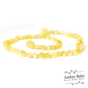 Genuine Baltic Amber Teething Necklace Butter