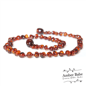 Genuine Baltic Amber Teething Necklace Cherry