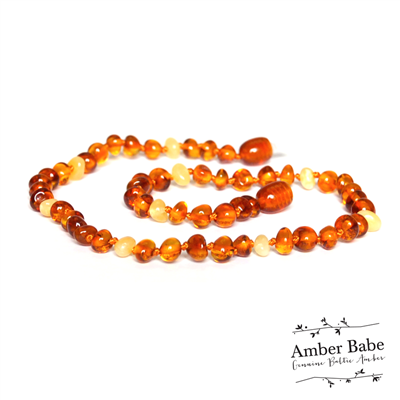 Genuine Baltic Amber Teething Necklace Honey and Butter