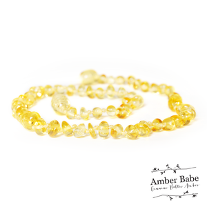 Genuine Baltic Amber Teething Necklace Lemon