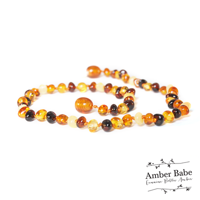 Genuine Baltic Amber Teething Necklace Multi