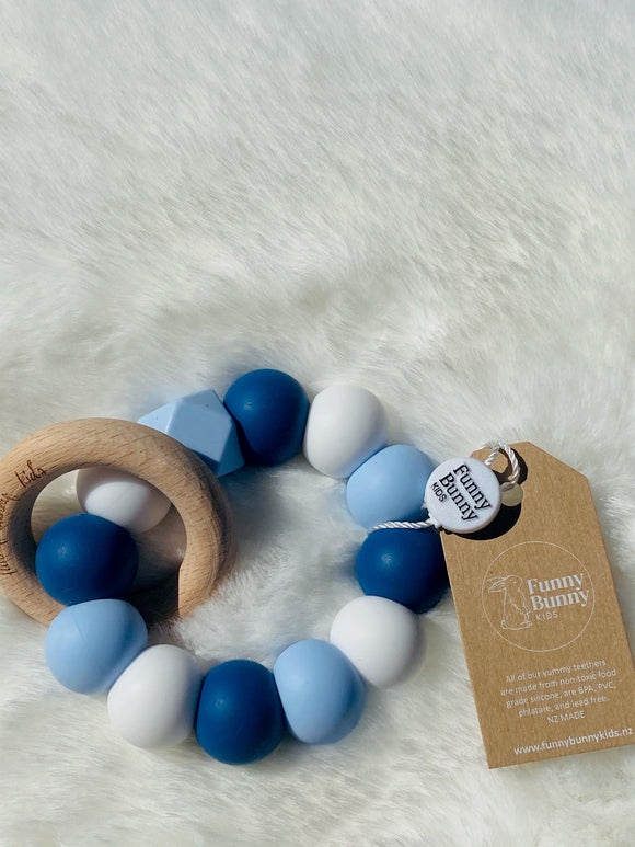 Teething Rings by Funny Bunny Kids - Boy Blues