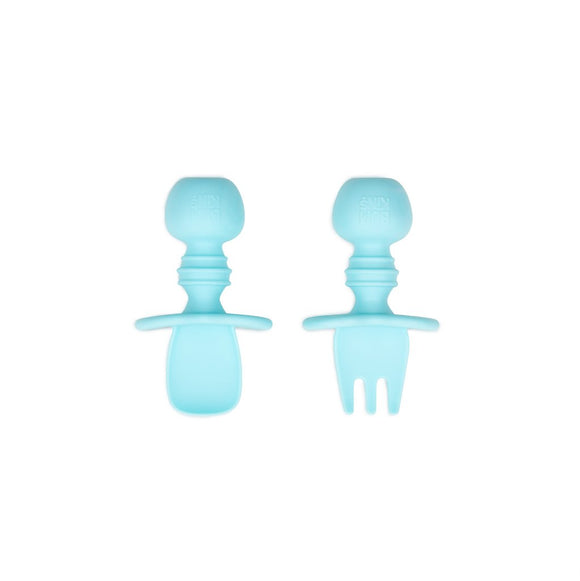 Bumkins Silicone Chewtensils - Light Blue