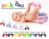 Sock Ons Congratulations card Baby Girl
