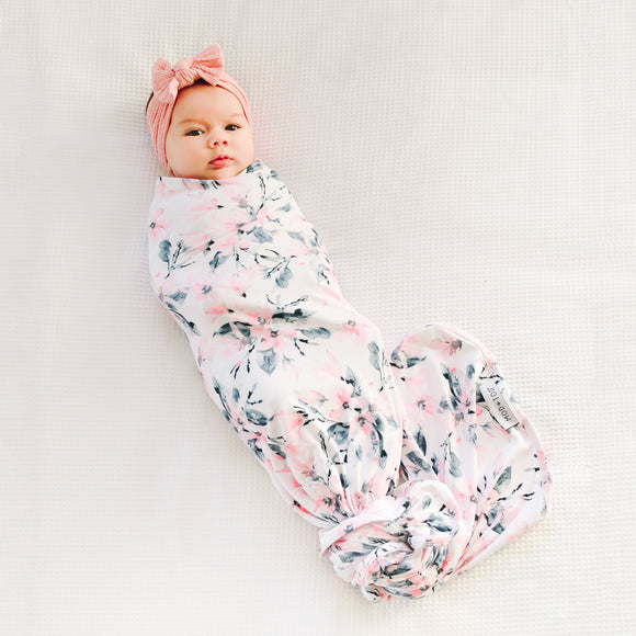 Mod & Tod Stretchy Swaddle - Watercolour Blossom