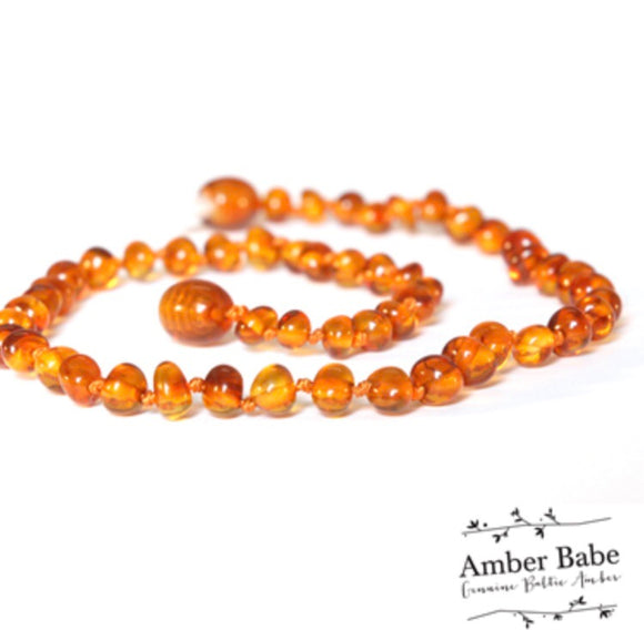 Genuine Baltic Amber Teething Necklace Honey