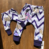 Lil Moo Harlem Pants - Zig Zag Floral  2 Years