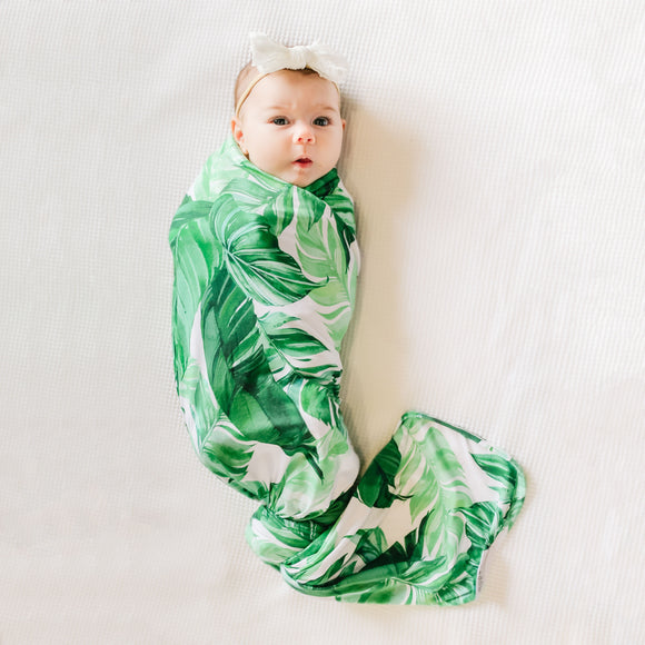 Mod & Tod Stretchy Swaddle - Banana Palm