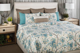 Teal Vine Queen Duvet Set