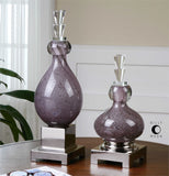 Uttermost Charoite Bottles Set Of Two - K&R Interiors