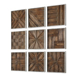 Uttermost Bryndle Squares, Set of Nine Wall Decor - K&R Interiors
