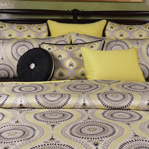 Lemon Tonic Queen Duvet Set - K&R Interiors