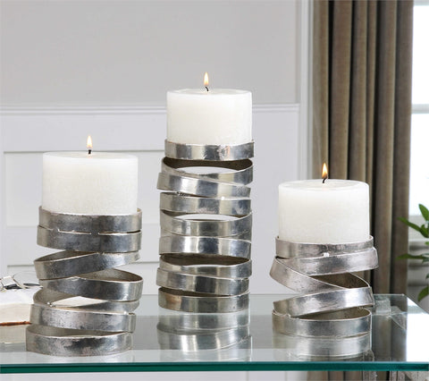 Uttermost Tamaki Candleholders Set Of Three - K&R Interiors