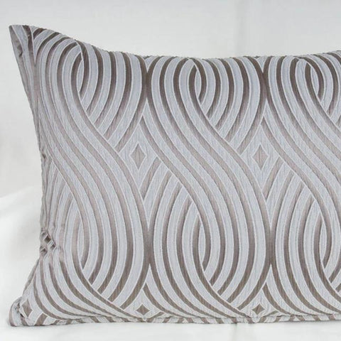 Silver Scroll 18x24 Throw Pillow - K&R Interiors
