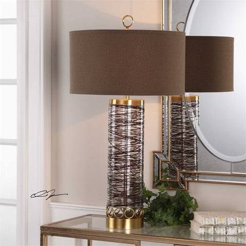 Uttermost Seaver Glass Table Lamp - K&R Interiors