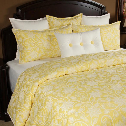 Canary Cal King/King Duvet Set - K&R Interiors