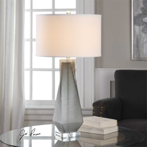 Uttermost Anatoli Charcoal Gray Table Lamp - K&R Interiors