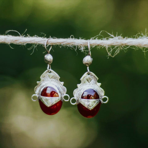 Toureg Tradition Silver Earrings