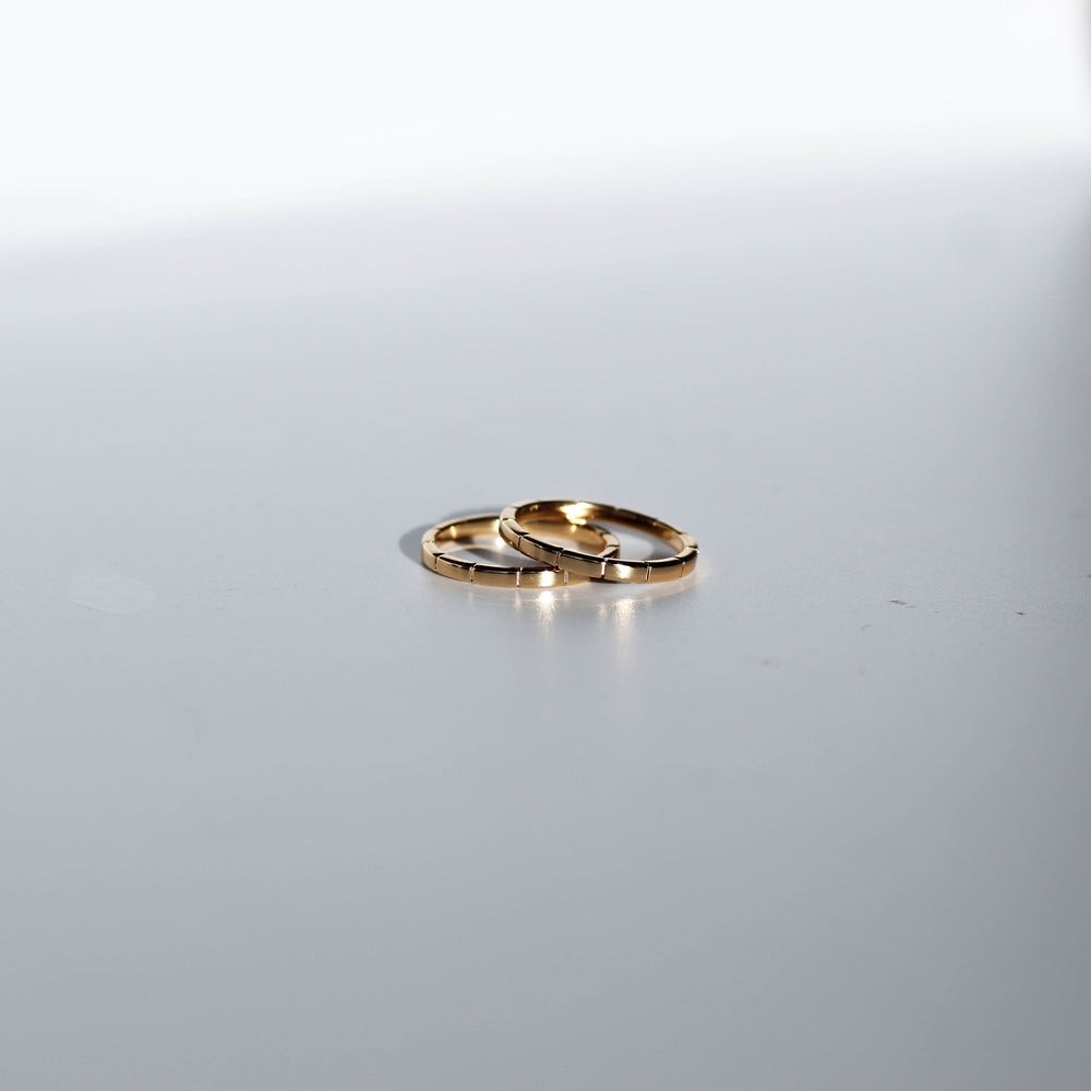 Striped Ring Gold