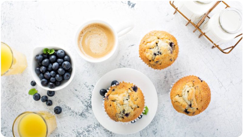 Blueberry Muffins with dōTERRA Lemon