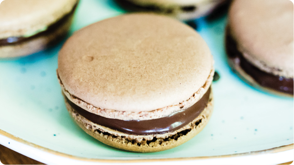 Chocolate Macarons with dōTERRA Black Pepper