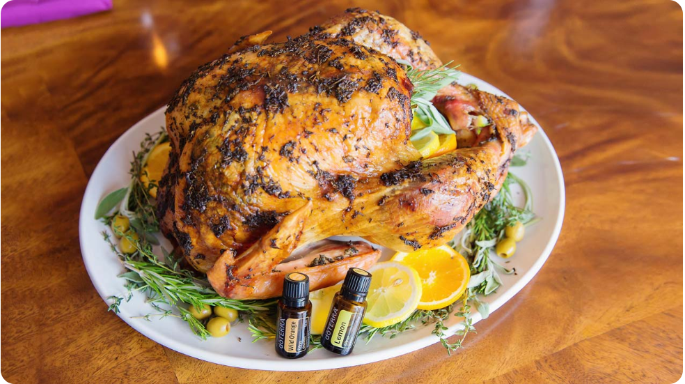 Citrus & Herb Butter Roasted Turkey with dōTERRA Oils