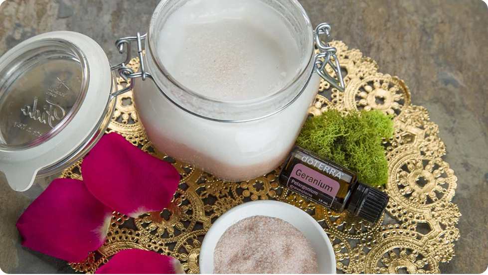 Coconut Salt Scrub with dōTERRA Oils