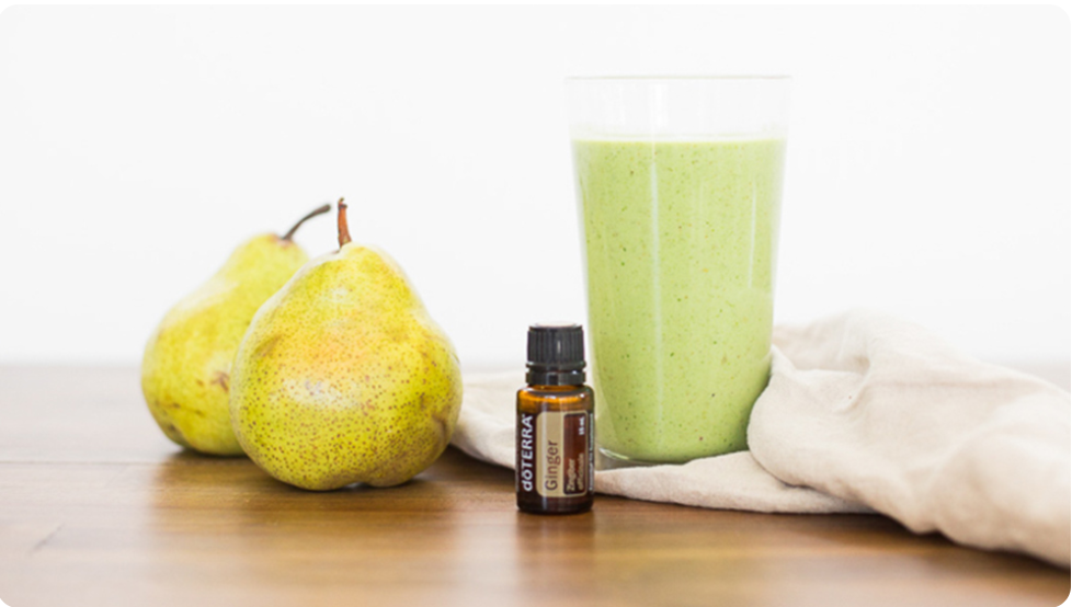 Pear Green Smoothie with dōTERRA Ginger