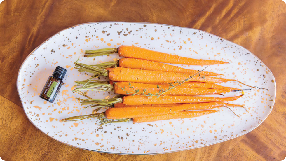 Honey Roasted Carrots with dōTERRA Thyme