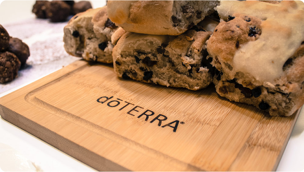 Hot Cross Buns with dōTERRA Oils