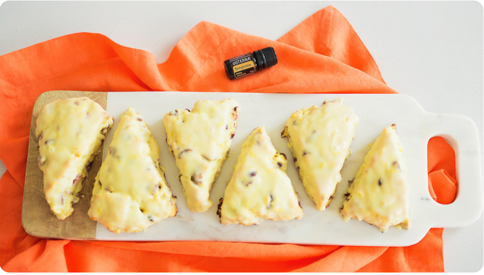 Cranberry Scones with dōTERRA Tangerine