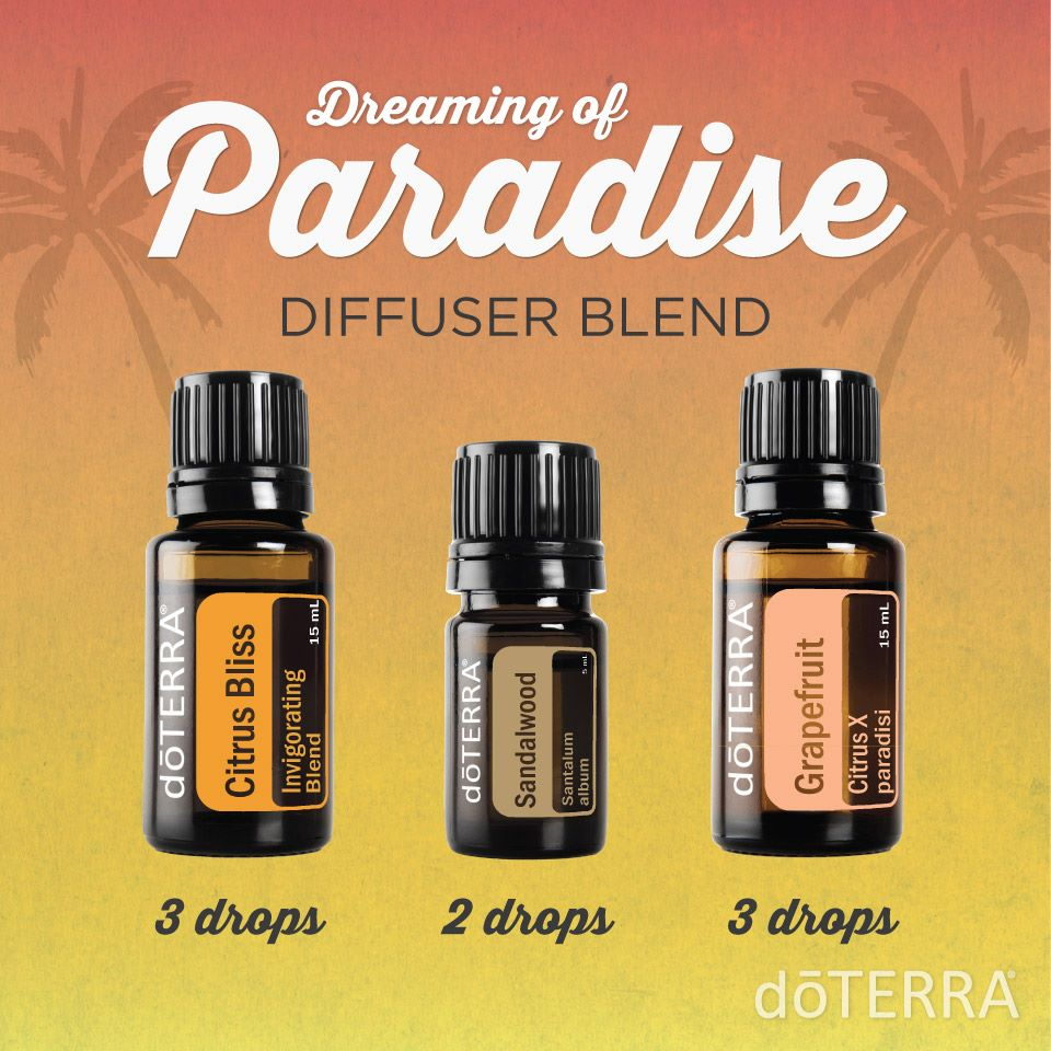 Dreaming of Paradise Diffuser Blend with dōTERRA Oils