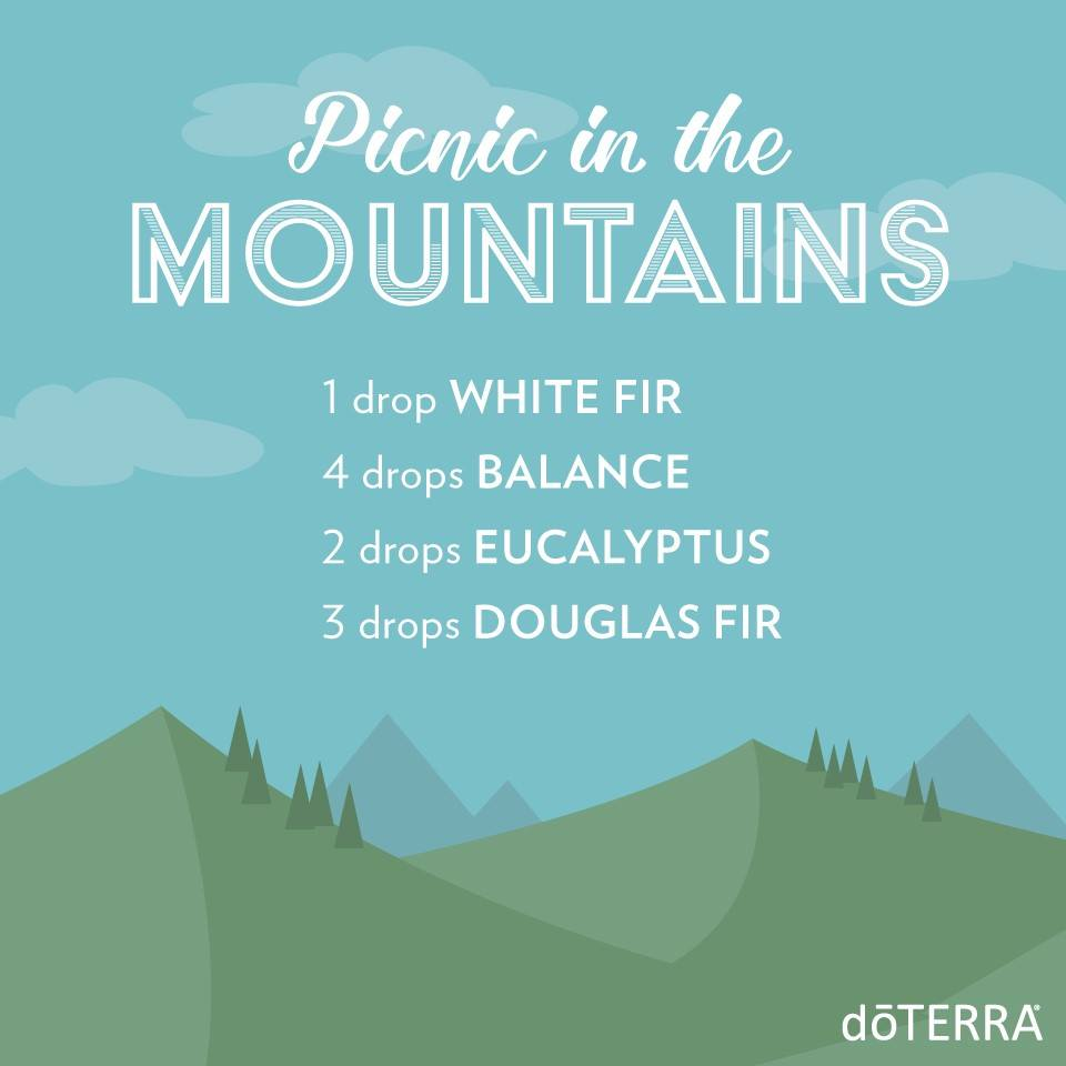 Picnic in the Mountains with dōTERRA Oils