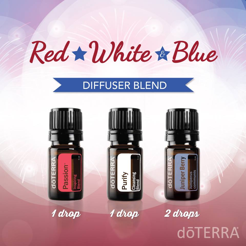 Red, White and Blue Diffuser Blend with dōTERRA Oils