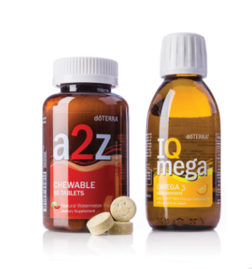 dōTERRA a2z Chewable™ and IQ Mega® Pack
