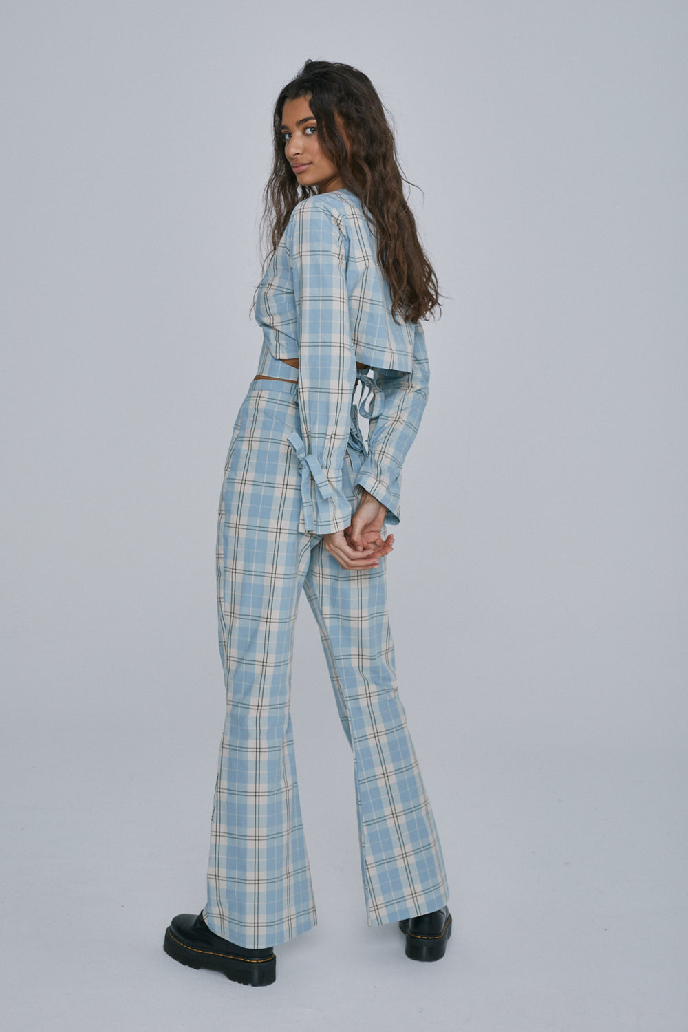 Milk It Plaid Flares