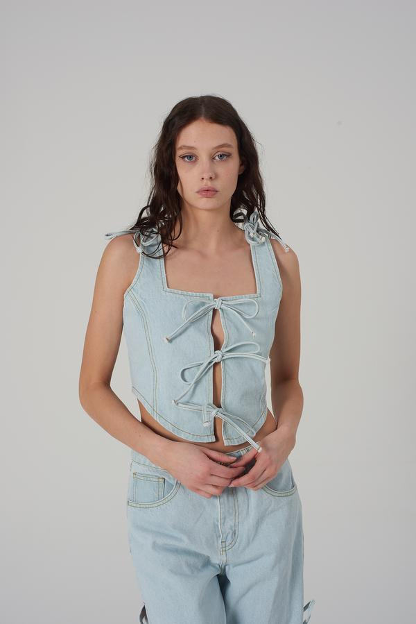 Milk It Recycled Denim Romance Top